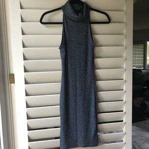 Topshop Ribbed turtleneck mini dress 4 2